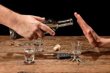 kein Alkohol beim Autofahren.