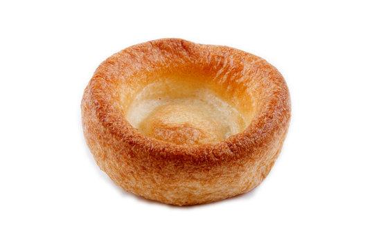 yorkshire pudding isolated on white background