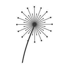 dandelion seed decoration icon vector illustration design