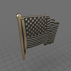 Pin USA Flag 2