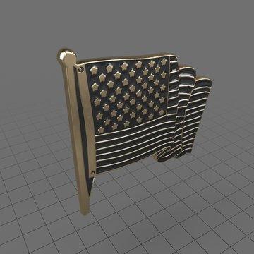 Pin USA Flag 2