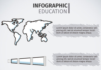 Global Education Infographic with Hand Drawn Style Icons 1