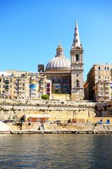 The view on Valletta, Sliema, Malta