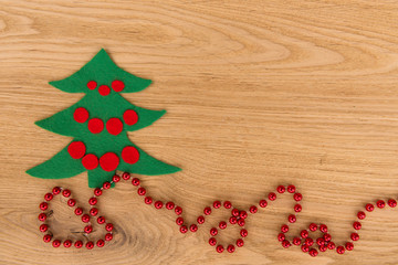 New Year's background on a wooden table