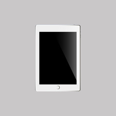 Touch pad on the grey background