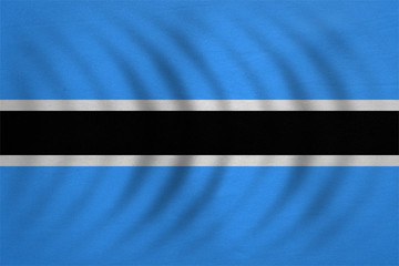 Flag of Botswana wavy real detailed fabric texture
