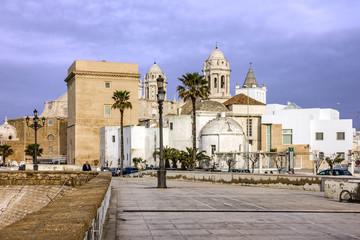 CADIZ, SPAIN: Cathedral church of Cadiz