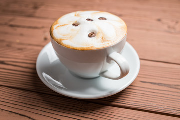 Cappuchino in a white cup