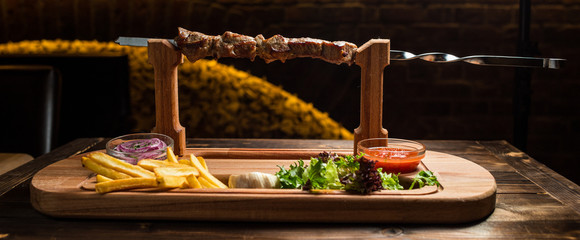 Barbecue on skewer