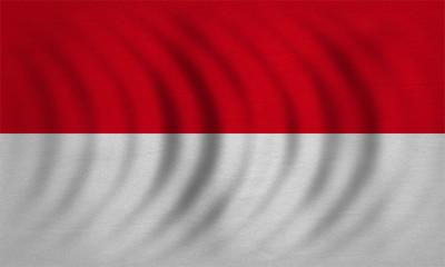 Flag of Indonesia, Monaco, Hesse wavy, textured