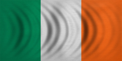 Flag of Ireland wavy, real detailed fabric texture