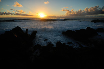 Wall Mural - イースター島の夕日