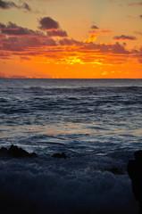 Fototapete - イースター島の夕日