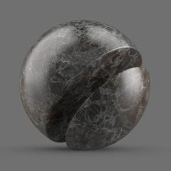 Dark gray new emperador marble