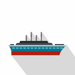 Ship icon. Flat illustration of ship vector icon for web