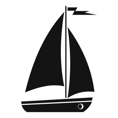 Boat icon. Simple illustration of boat vector icon for web