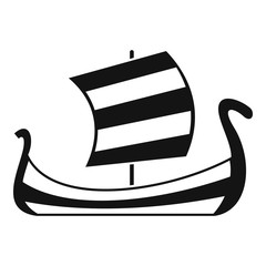 Medieval boat icon. Simple illustration of medieval boat vector icon for web