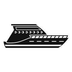Yacht icon. Simple illustration of yacht vector icon for web