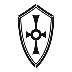 Shield icon. Simple illustration of shield vector icon for web