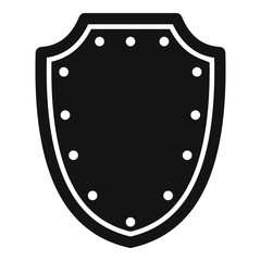Army protective shield icon. Simple illustration of army protective shield vector icon for web