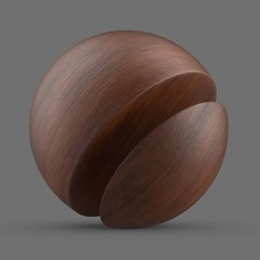 Brown acajou mahogany wood