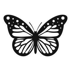 Big butterfly icon. Simple illustration of big butterfly vector icon for web
