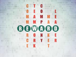 Business concept: Reward in Crossword Puzzle