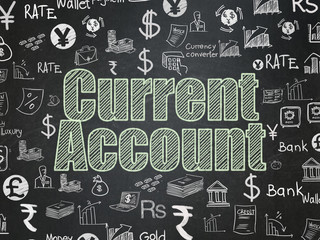 Money concept: Current Account on School board background