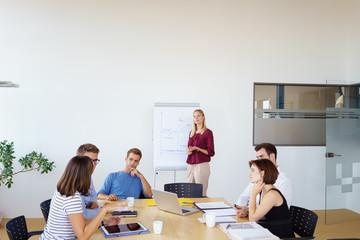 studenten in einem seminar