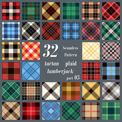 Set Tartan Seamless Pattern.