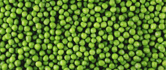 Fototapeta Green peas panorama obraz