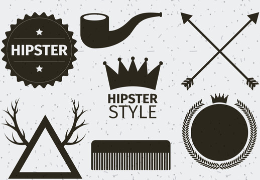 24 Trendy Lifestyle Product and Item Silhouette Icons