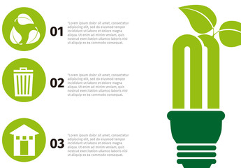 Plant and Lightbulb Illustration Element Recycling Infographic 2