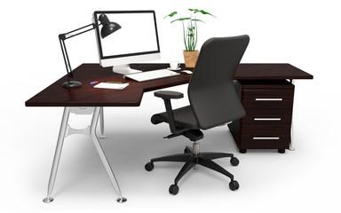 Büroarbeitsplatz clipart  Photos, illustrations et vidéos de