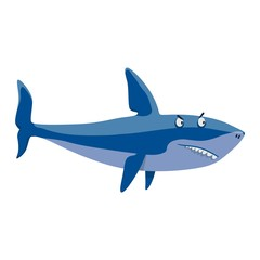 Vector shark character