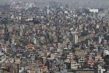 Panoramic view of central Kathmandu, Nepal