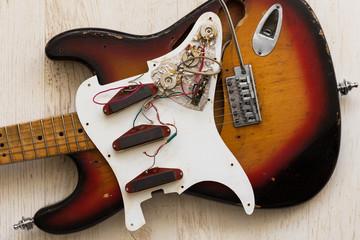 take apart electric guitar Wall mural