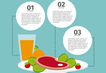Plated Food Infographic with Editable Text