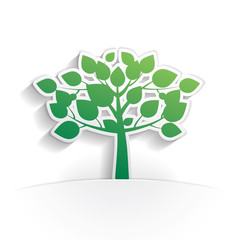 tree icon paper