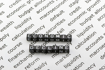 Economic decline in the country