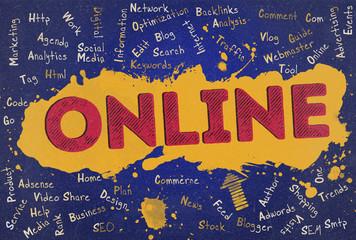 Online, Word Cloud, Blog