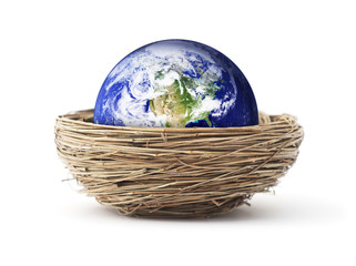 Isolated planet in a bird nest