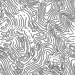 Seamless topographic contour map pattern. Vector seamless backgr