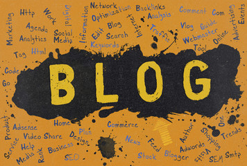 Blog, Word Cloud, Blogger