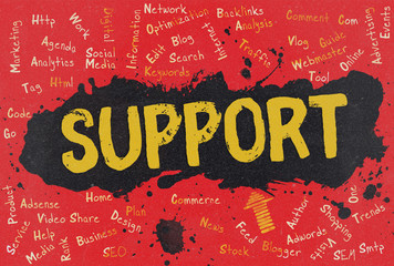 Support, Word Cloud, Blog