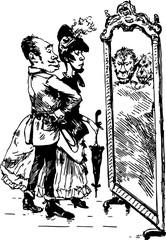 old caricature (Georges Bigot) [vector]