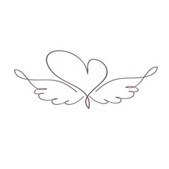 сердечко с крыльями