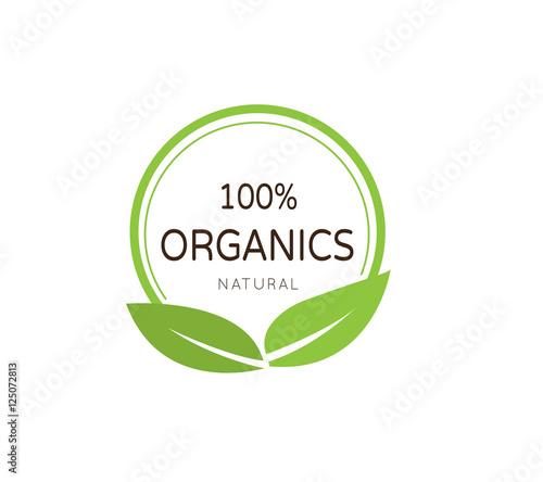 Natural Brand Logo Badge Design: