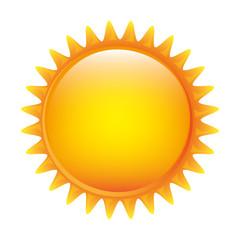 glossy sun representation icon image vector illustration design