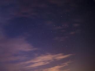Beautiful stars in the dark sky.